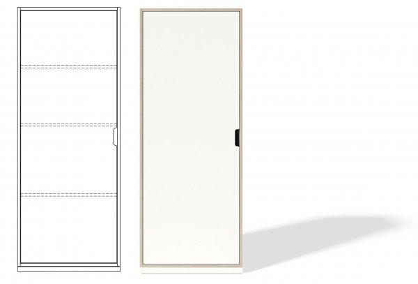 Modular Stapelbar Schrankelement 1, mit Sockel, Ausstattung 1, Tür Links