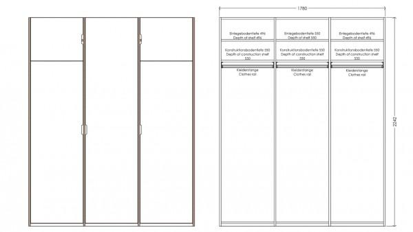 Modular Anbaubar Kleiderschrank Version 5 Ausführung 1