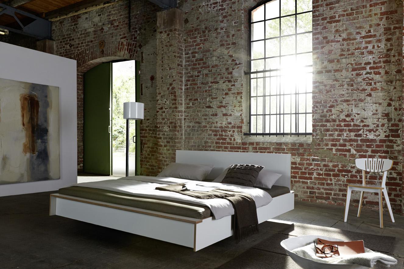 FLAI Doppelbett weiß Detailbild 1