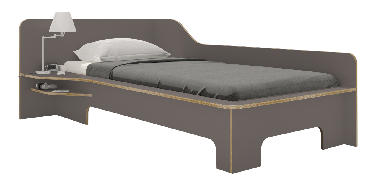 PLANE single bed anthracite