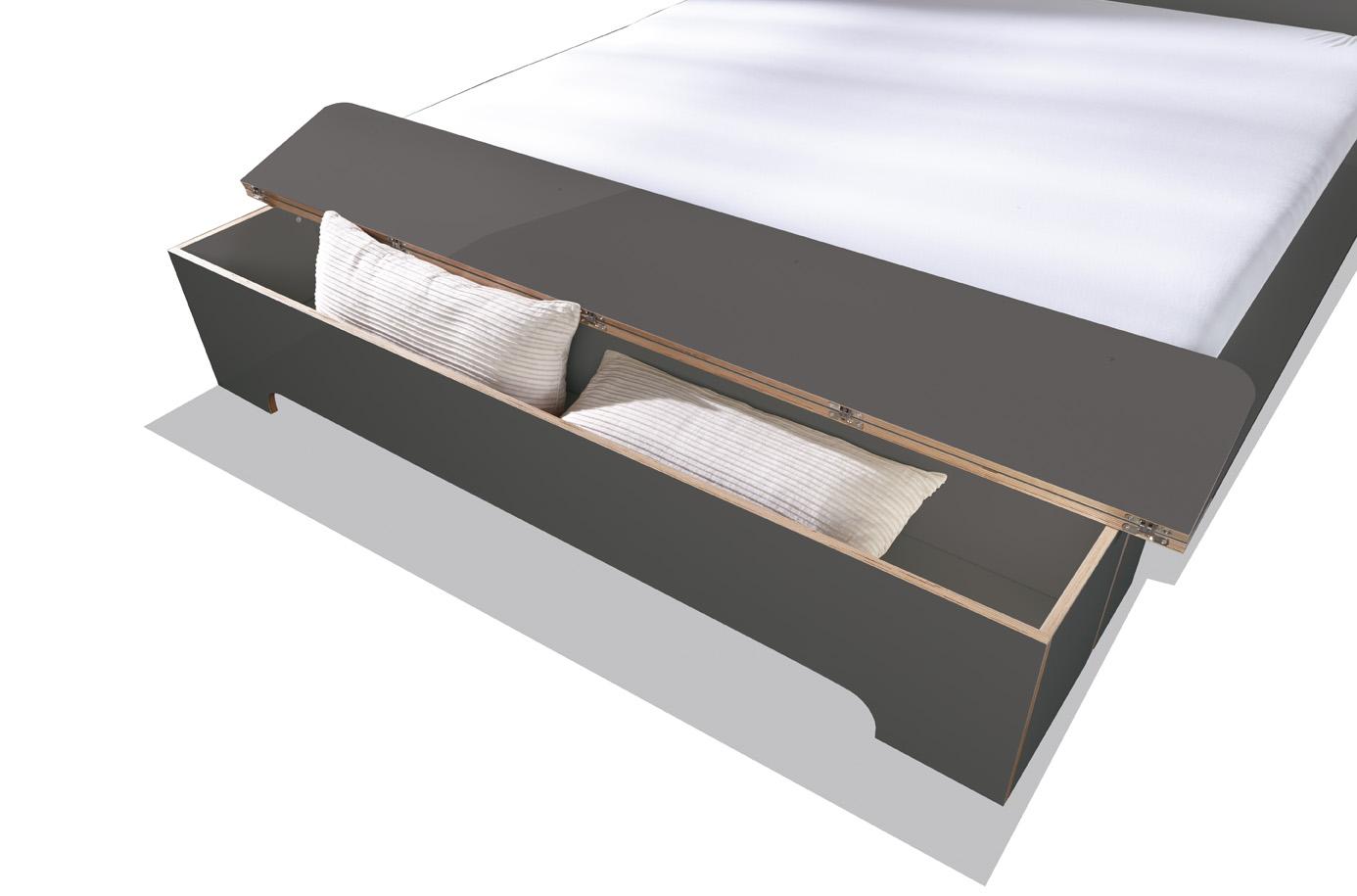 PLANE Doppelbett anthrazit Detailbild 2