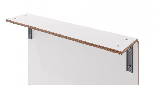 Sofabank Seitenablage Weiss
