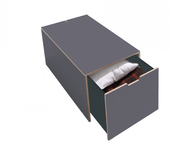 Schubkasten für Stapelliege in Anthrazit