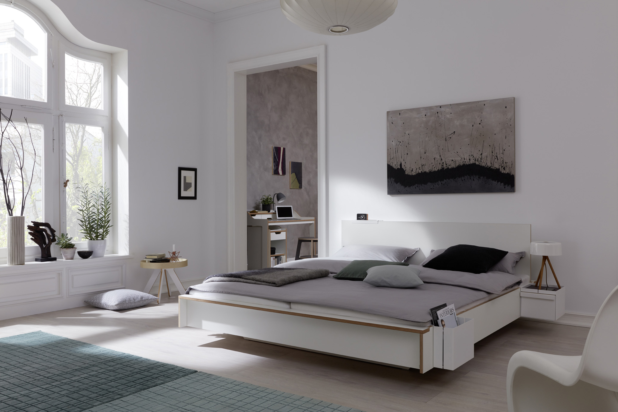 FLAI Doppelbett weiß Detailbild 2
