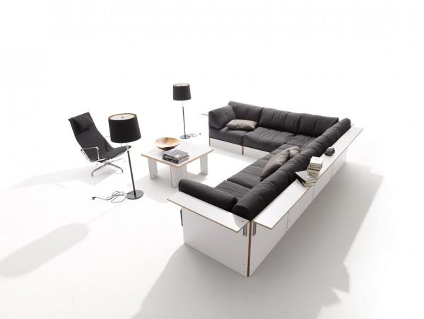 Sofabank No.3 Weiß