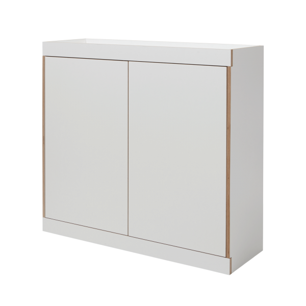 FLAI chest of drawers white (two doors)