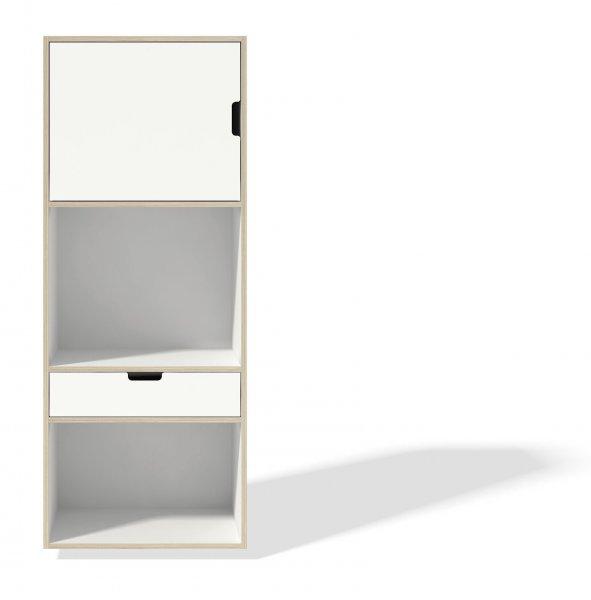 Modular Stapelbar Schrankelement 3, ohne Sockel, Tür Links