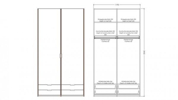 Modular Anbaubar Kleiderschrank Version 1 Ausführung 5