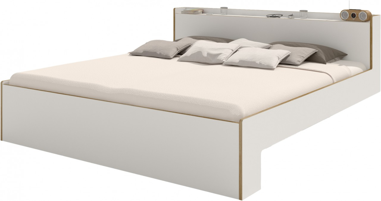 NOOK Doppelbett weiß
