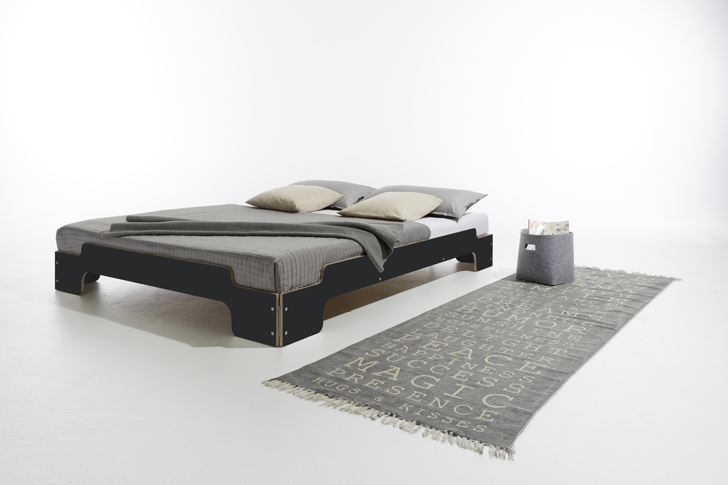 Stapelliege Komfort HPL schwarz matt Detailbild 1