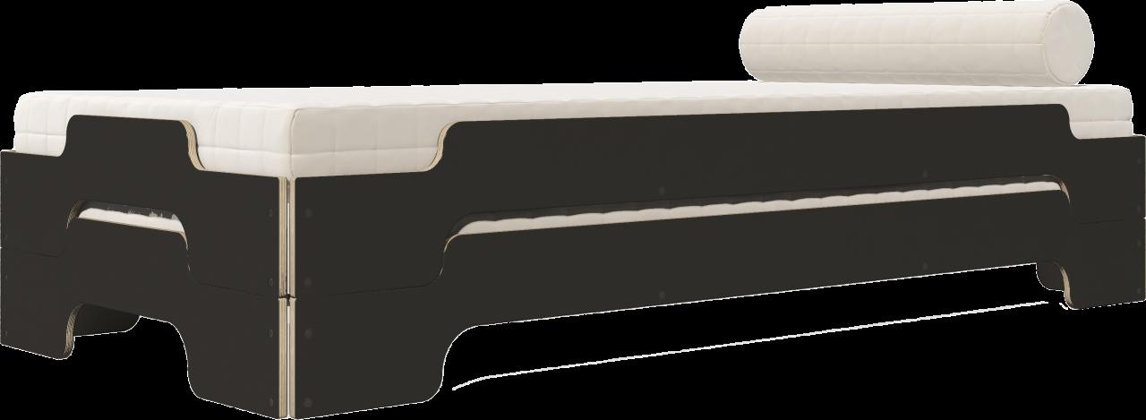 Stapelliege Klassik HPL schwarz matt