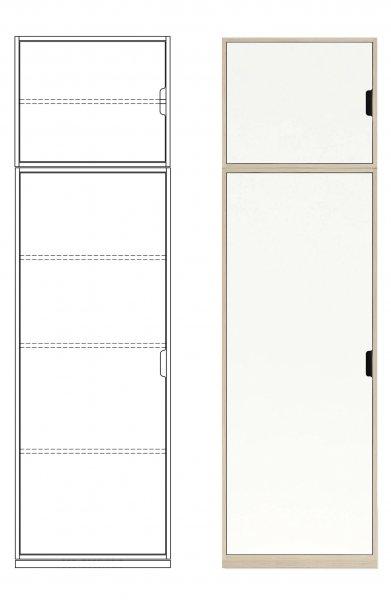 Modular Anbaubar Kleiderschrank Kombination 1, Ausstattung 1, Tür links