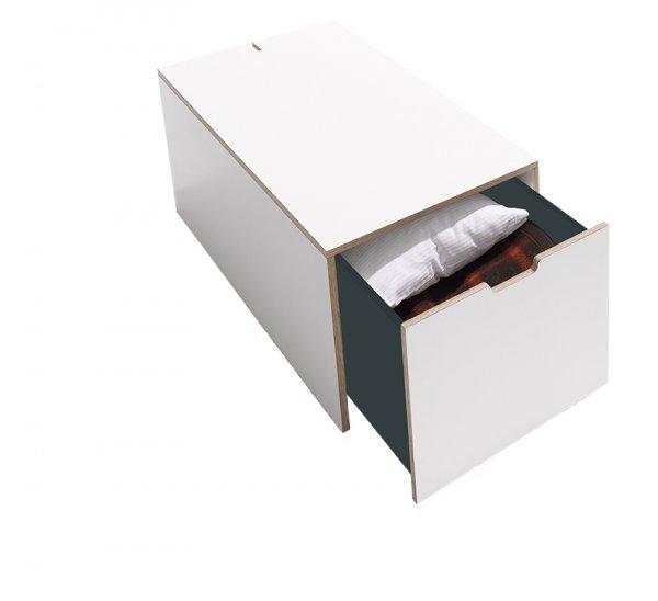 Schubkasten für Stapelliege in weiß