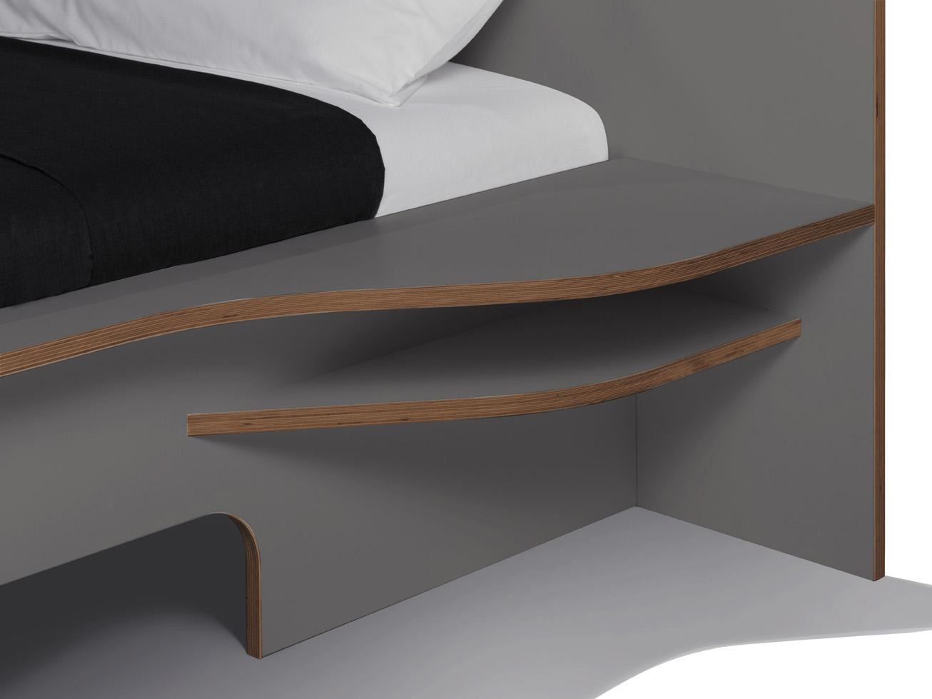 PLANE Doppelbett anthrazit Detailbild 1