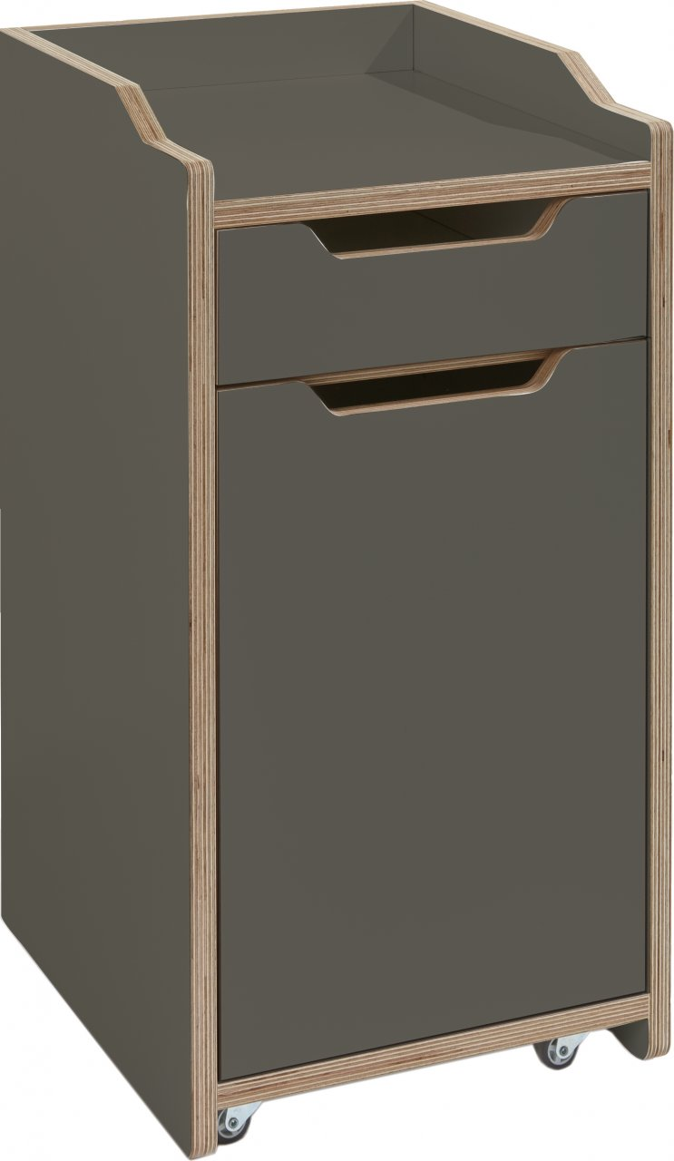 PLANE mobile pedestal anthracite (with door)