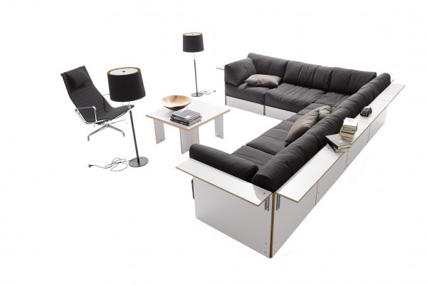 Sofabank No.3 weiss