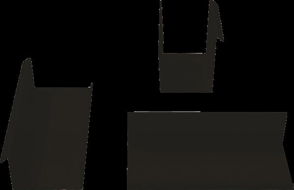 3-teiliges Ordnungsset schwarz